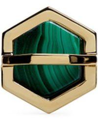W. Britt - 'hexagon' Inset Malachite Ring - Lyst