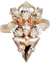 Anton Heunis - Swarovski Crystal Glass Stone Floral Cluster Ring - Lyst