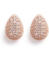Carat* - 'miria' Gemstone Pavé Rose Gold Earrings - Lyst