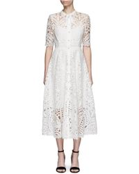 Temperley London | 'berry' Ribbon Tie Patchwork Guipure Lace Dress | Lyst