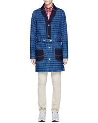 FDMTL - Windowpane Seersucker Hopsack Coat - Lyst