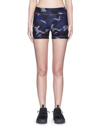 Laain - Camouflage Performance Jersey Bike Shorts - Lyst