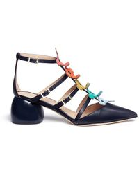 Anya Hindmarch - 'apex' Geometric Nappa Leather Caged Sandals - Lyst