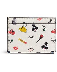 Alice + Olivia - 'stacey Print' Leather Card Holder - Lyst