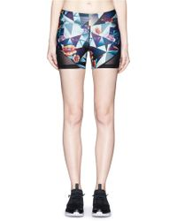 We Are Handsome - 'the Score' Print Bike Shorts - Lyst