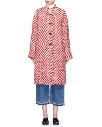 Trademark - Oversized Bouclé Tweed Coat - Lyst