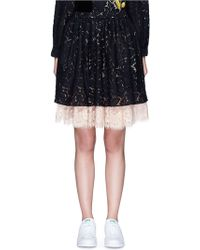 Chictopia - Layered Guipure Lace Skirt - Lyst
