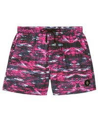 Insted We Smile - Paint Stroke Print Swim Shorts - Lyst