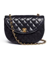 Chanel - Quilted Leather Half Moon Flap Bag - Lyst