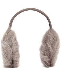 Karl Donoghue - Mesh Embossed Toscana Lambskin Shearling Ear Muffs - Lyst