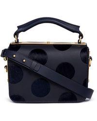 Sophie Hulme - 'finsbury' Flocked Polka Dot Calfhair Leather Shoulder Bag - Lyst