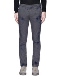1.61 - 'b.e.' Slim Fit Stained Effect Trousers - Lyst