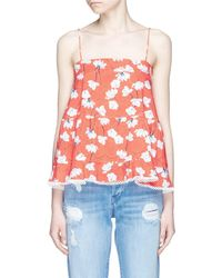 Nicholas - Floral Print Tiered Ruffle Cotton Camisole - Lyst