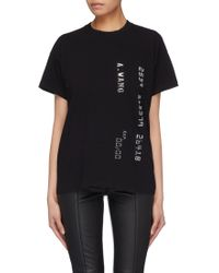 Alexander Wang - Logo Printed T-shirt - Lyst