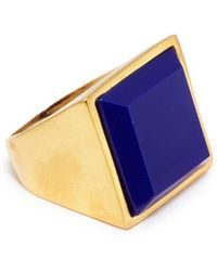 Kenneth Jay Lane - Lapis Square Stone Ring - Lyst
