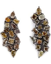 Monique Péan - 'atelier' Diamond 18k Gold Earrings - Lyst
