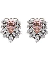 Anton Heunis - Swarovski Crystal Cluster Stud Earrings - Lyst
