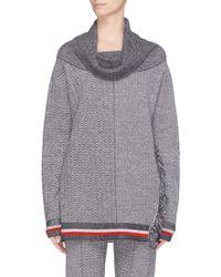Stella McCartney - Convertible Chevron Stripe Patchwork Oversized Sweater - Lyst