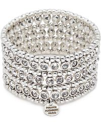 Philippe Audibert - 'asea' Swarovski Crystal Three Row Plate Elastic Bracelet - Lyst