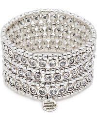Philippe Audibert | 'asea' Swarovski Crystal Three Row Plate Elastic Bracelet | Lyst