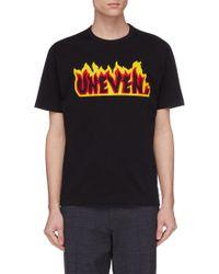 Kolor - 'uneven' Appliqué T-shirt - Lyst