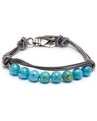 Emanuele Bicocchi - Beaded Knotted Chain Bracelet - Lyst