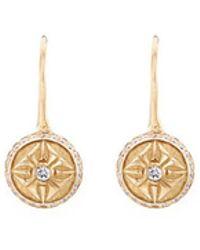 Shamballa Jewels - '10sos' Diamond 18k Gold Sphere Drop Earrings - Lyst