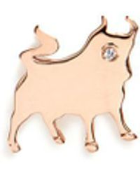 Loquet London - 18k Rose Gold Diamond Chinese New Year Charm - Ox - Lyst
