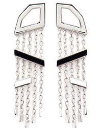 W. Britt - Angle Dangle' Onyx Silver Drop Earrings - Lyst