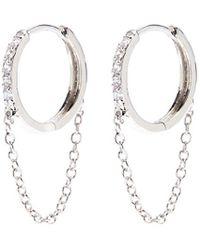 CZ by Kenneth Jay Lane - Cubic Zirconia Chain Fringe Drop Earrings - Lyst
