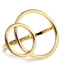 Joomi Lim - 'mix Master' Interlocking Hoop Two Finger Ring - Lyst