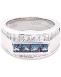 LC COLLECTION   Diamond Alexandrite Platinum And Silver Ring   Lyst
