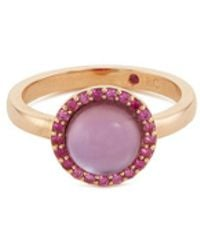 Roberto Coin - 'cocktail' Amethyst Quartz Sapphire 18k Rose Gold Ring - Lyst