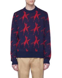 CALVIN KLEIN 205W39NYC - 'knives' Intarsia Wool-alpaca Sweater - Lyst