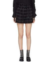 3.1 Phillip Lim - 'origami' Belted Check Tweed Shorts - Lyst