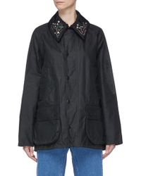 Toga - X Barbour 'bedale' Embellished Slogan Embroidered Jacket - Lyst