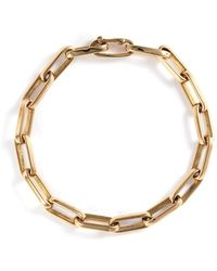 Loquet London | 14k Yellow Gold Chain Link Bracelet - Large | Lyst