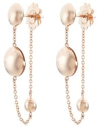 Roberto Coin - 18k Rose Gold Beaded Chain Drop Earrings - Lyst