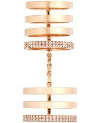 Repossi - 'berbère' Diamond 18k Rose Gold Seven Row Linked Ring - Lyst
