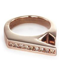 Lynn Ban - 'stackable Jagged Knuckle B' Rose Gold Silver Ring - Lyst