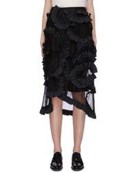 07558110b BCBGMAXAZRIA Skirt - Simone Texture Power in Black - Lyst