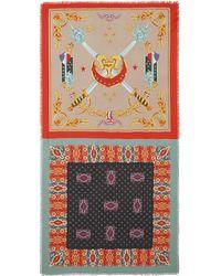 Franco Ferrari - Cavalry Print Silk Twill Scarf - Lyst