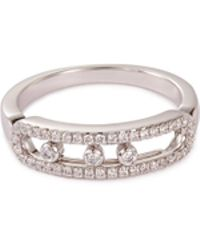 Messika - 'baby Move Pavé' Diamond 18k White Gold Ring - Lyst