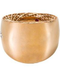 Roberto Coin - 'golden Gate ' Diamond 18k Gold Ring - Lyst