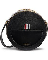 Thom Browne - Pebble Grain Leather Crossbody Hat Box Bag - Lyst