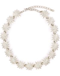 Kenneth Jay Lane - Glass Crystal Starburst Link Chain Necklace - Lyst
