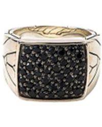 John Hardy - Sapphire Silver Signet Ring - Lyst