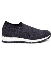 Pedder Red - 'dara' Faux Pearl Lurex Knit Sock Sneakers - Lyst