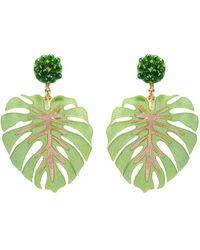 Mercedes Salazar - 'mano De Tigre Verde' Leaf Drop Clip Earrings - Lyst