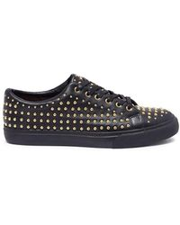 Pedder Red - 'jeff' Stud Pavé Leather Trainers - Lyst